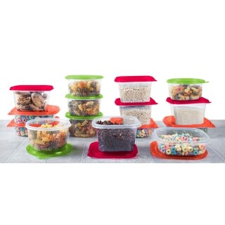 30 Pieces Plastic Meal Prep Kitchen Containers Freezer or Lunch Containers
