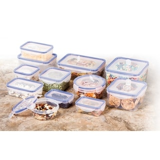 24 Pc Set of Plastic Containers - Food Storage Container Set