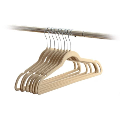 30 Pack Flocked Velvet Hangers Wrinkle Free Non Slip Hangers