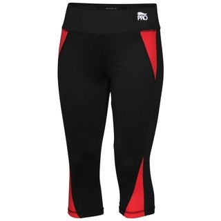 Crivit Pro TopCool Women's Activewear Leggings Black Coral