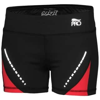 Crivit Pro TopCool Women's Activewear Shorts Black Red|https://ak1.ostkcdn.com/images/products/18658278/P24752900.jpg?impolicy=medium