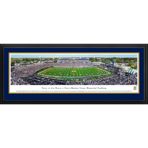 Navy Midshipmen Football - Blakeway Panoramas College Football Framed Print