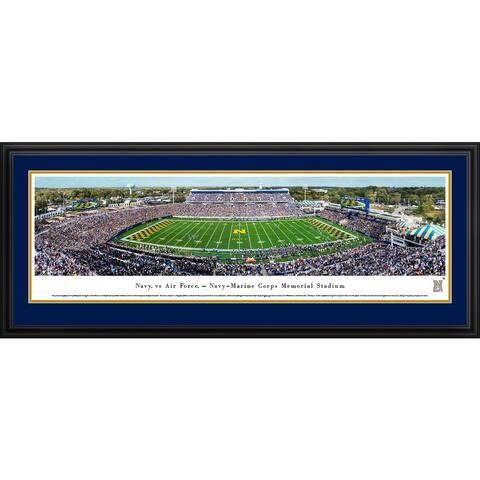 Navy Football - Blakeway Panoramas Football Framed Print
