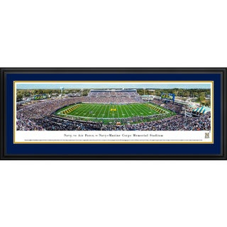 Navy Football - Blakeway Panoramas Football Framed Print