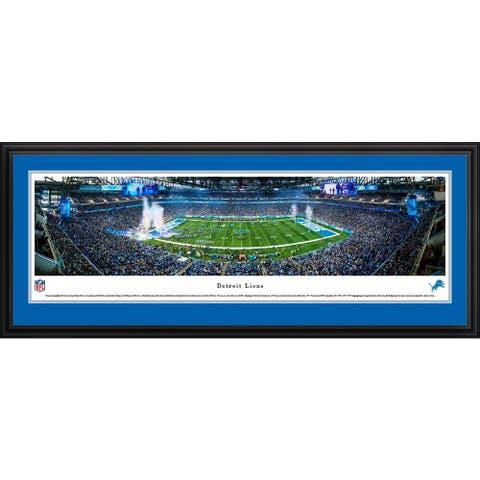 Blakeway Panoramas Detroit Lions Framed NFL Print