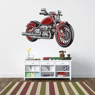 Red Motorcycle Wall Decal