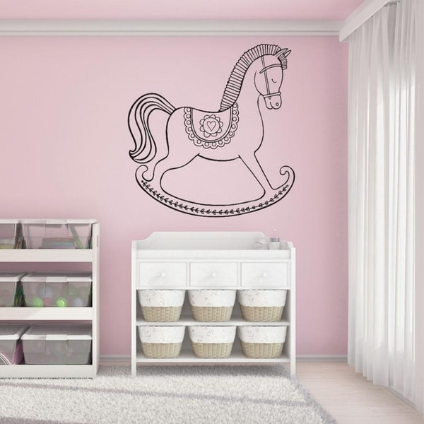 Rocking Horse Wall Decal