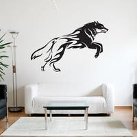 Flaming Wolf Wall Decal