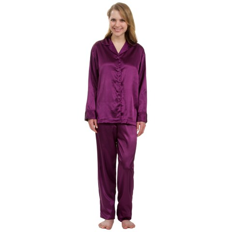 Leisureland Classic Women's Stretch Satin Pajama Set