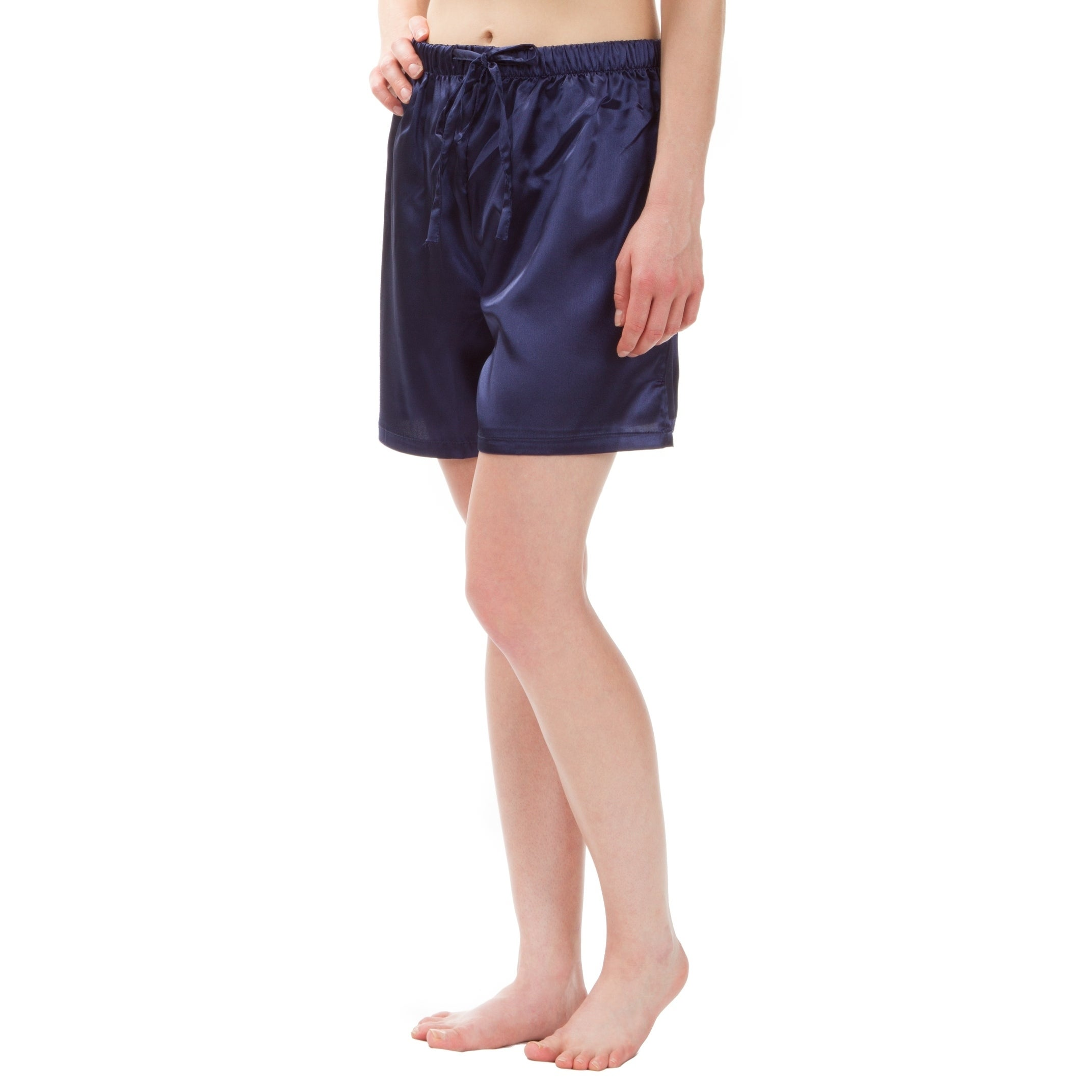 Shop Leisureland Women s Stretch Satin Pajama Boxer Shorts - Free Shipping  On Orders Over  45 - Overstock - 18658573 3f69219f99