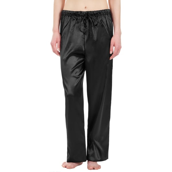 Leisureland Women's Stretch Satin Pajama Pants