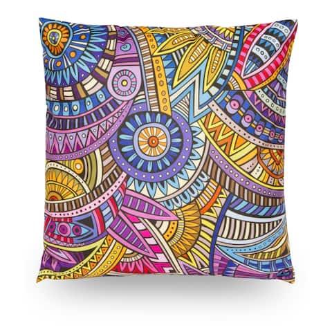 """Abstract 18"""" Microfiber Throw Pillow Cover, Decorative Pillowcase"""
