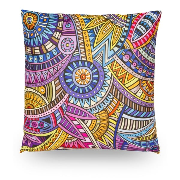 Abstract 18 Microfiber Throw Pillow Cover Decorative Pillowcase