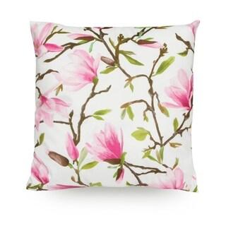 "Magnolia Flower 18"" Microfiber Throw Pillow Cover"