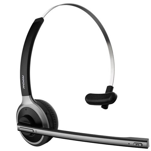 Professional Over-the-Head Bluetooth Wireless Headset for Drivers, Lightweight and Hands Free with Built-in Mic