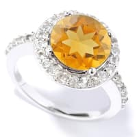 Sterling Silver Citrine and White Topaz Ring - Yellow
