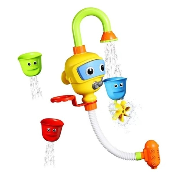 shop baby bath toys, pictek spray shower toy with 3 stackable cups