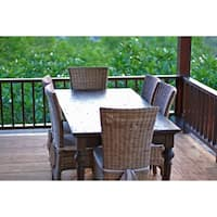 Maison Rouge Angelou Brown Teak Wood 200 Dining Table