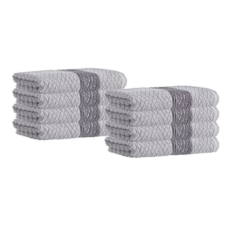 Anton Turkish Cotton Hand Towels (Set of 8) - 16x28 inches