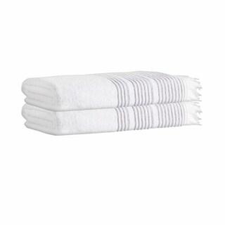 Ellen Turkish Cotton 35x67-inch Bath Sheets (Set of 2)