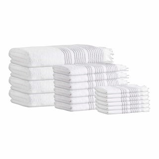 Ellen Turkish Cotton 16-Piece Towel Set