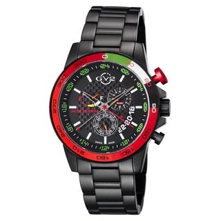 GV2 Swiss Quartz Chronograph Black Stainless steel Bracelet Watch