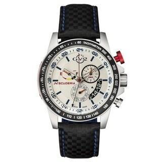 GV2 Swiss Quartz Chronograph Black Leather Strap Watch