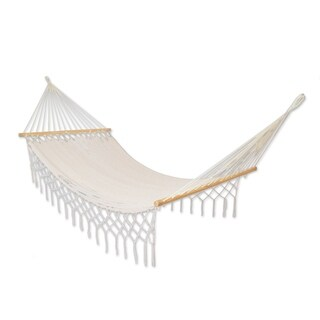 Nylon Hammock, 'Natural Rest' - Single (Mexico)