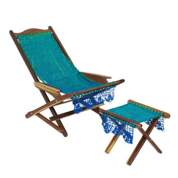 Incredible Shop Maya Hammock Deck Chair And Footstool Cancun Coast Dailytribune Chair Design For Home Dailytribuneorg
