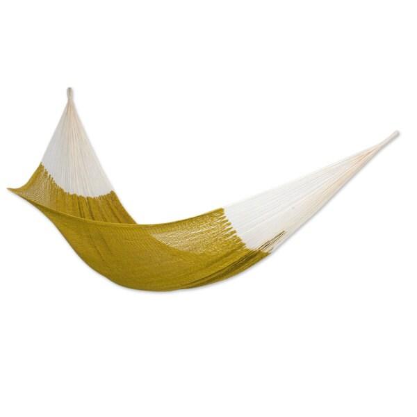 cotton hammock  u0026 x27 maya mustard u0026 x27      cotton hammock  u0027maya mustard u0027   double  mexico    free shipping      rh   overstock