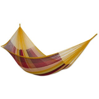 Cotton Hammock, 'Tropical Paradise' - Double (Mexico)