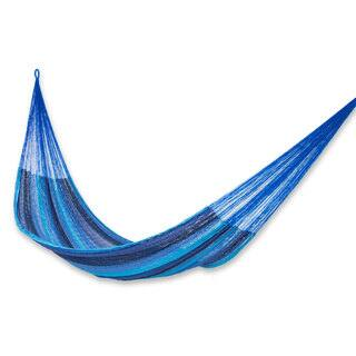Cotton Hammock, 'Huatulco' - Double (Mexico)|https://ak1.ostkcdn.com/images/products/18679386/P24772045.jpg?impolicy=medium