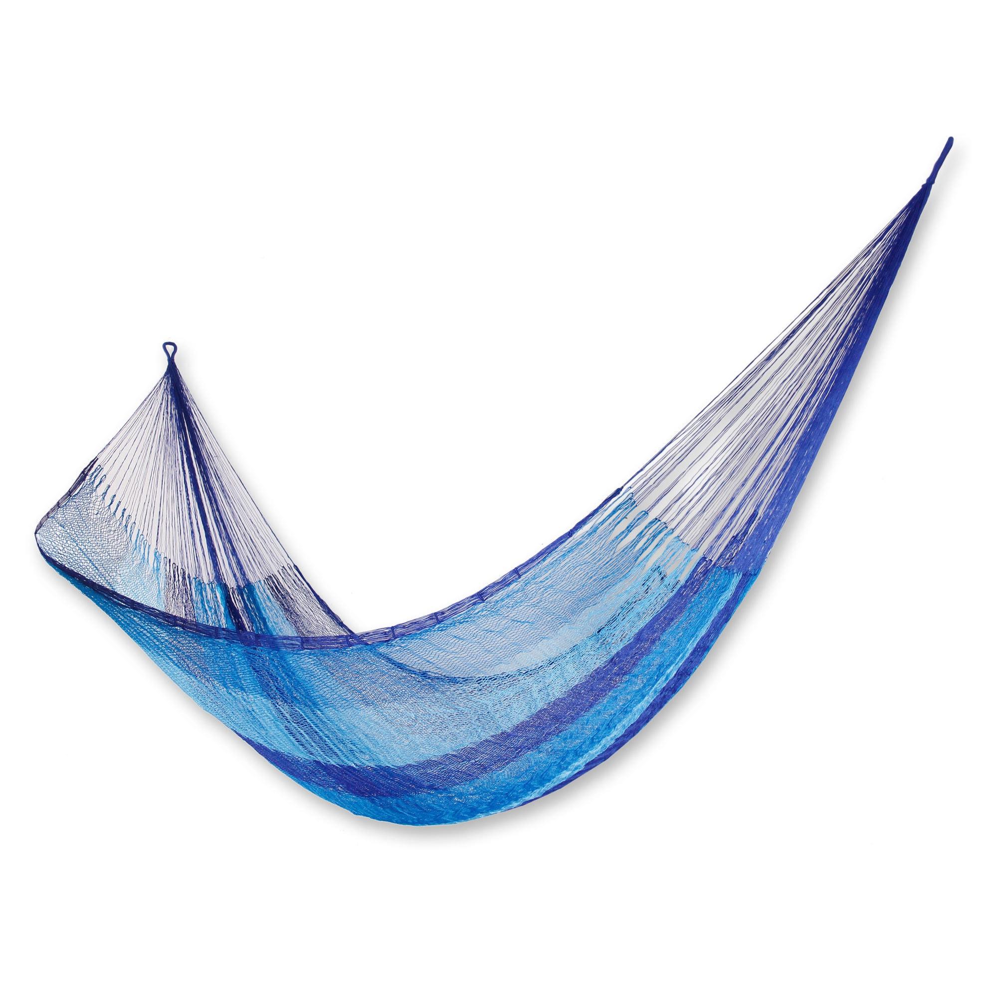 Mexican net hammock in Dark Blue Single hammocks