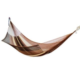 Handwoven Hammock, 'Near The Sea' - Double (Mexico)|https://ak1.ostkcdn.com/images/products/18679556/P24772257.jpg?impolicy=medium