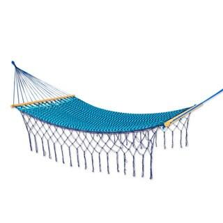 Nylon Rope Hammock, 'Sea And Sky' - Single (Mexico)