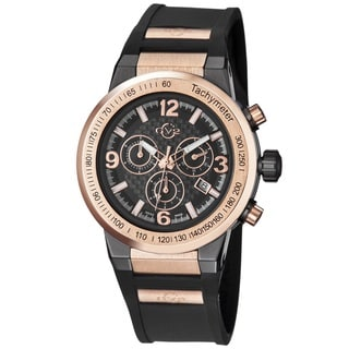 GV2 Men's Swiss Quartz Chronograph Rubber Strap Watch