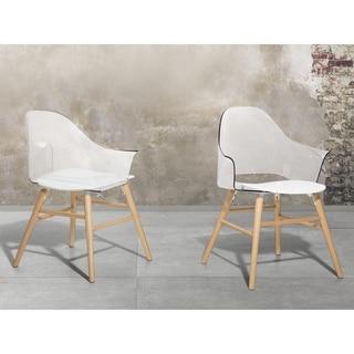 Beliani Boston White/Transparent Dining Chair