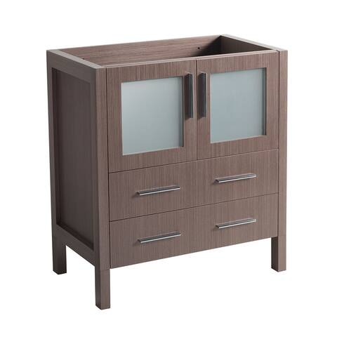 "Fresca Torino 30"" Gray Oak Modern Bathroom Cabinet"