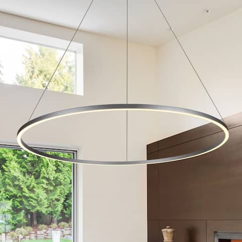 VONN Lighting VMC34912AL Tania 51-inch Modern Circular Chandelier in Silver