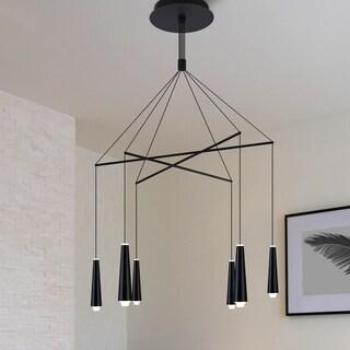 VONN Lighting VEC39160BL Expression 25-inch Black Chandelier