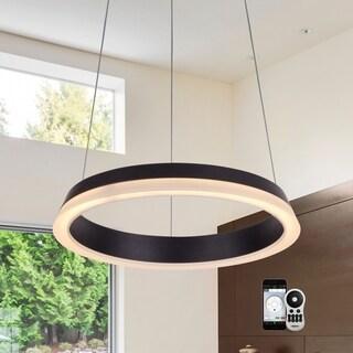 "VONN Lighting VHC39800BL Tania 17"" WiFi Tunable-White LED Chandelier"