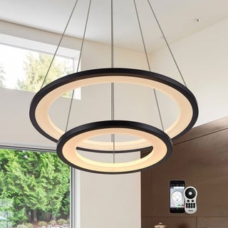 """VONN Lighting VHC39700 Tania Duo 24"""" WiFi Tunable-White LED Chandelier"""