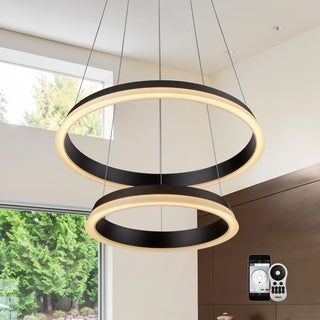 """VONN Lighting VHC39900 Tania Duo 25"""" WiFi Tunable-White LED Chandelier"""