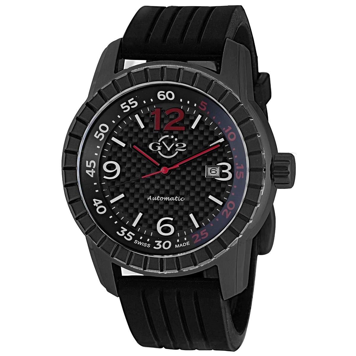 Gevril GV2 Men's Automatic Black Rubber Strap Watch (GV2 ...