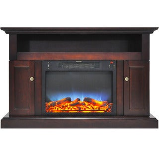 Cambridge CAM5021-2MAHLED Sorrento Electric Fireplace with Multi-Color LED Insert and 47 In. Entertainment Stand in Mahogany