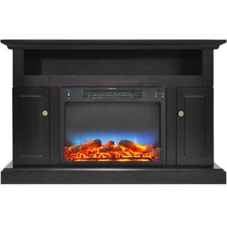 Cambridge CAM5021-2COFLED Sorrento Electric Fireplace with Multi-Color LED Insert and 47 In. Entertainment Stand in Black Coffee