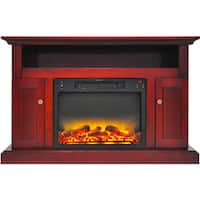 Cambridge CAM5021-2CHRLG2 Sorrento Electric Fireplace with an Enhanced Log Display and 47 In. Entertainment Stand in Cherry