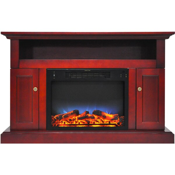 Cambridge CAM5021-2CHRLED Sorrento Electric Fireplace with Multi-Color LED Insert and 47 In. Entertainment Stand in Cherry