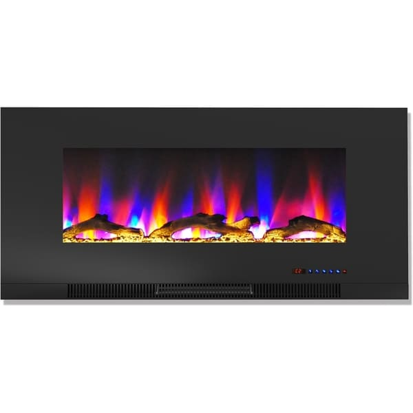 Shop Cambridge 42 In Wall Mount Electric Fireplace In Black With