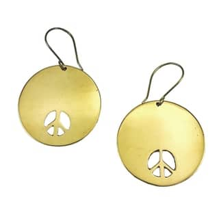 Handmade Recycled Peace Bomb Earrings (Cambodia)|https://ak1.ostkcdn.com/images/products/18680215/P24772831.jpg?impolicy=medium